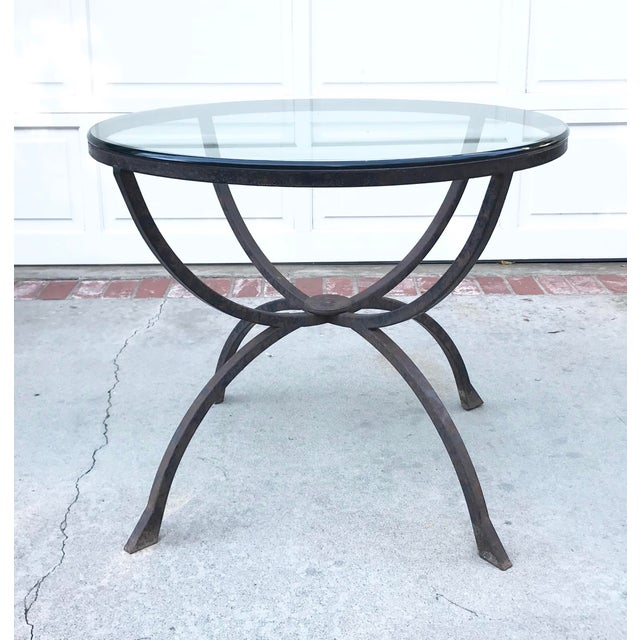 Sculptural Iron & Glass Table For Sale In Los Angeles - Image 6 of 6
