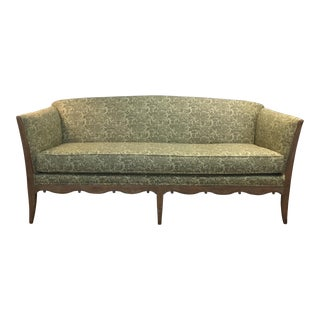Hollywood Regency Upholstered Sofa With Ralph Lauren Fabric