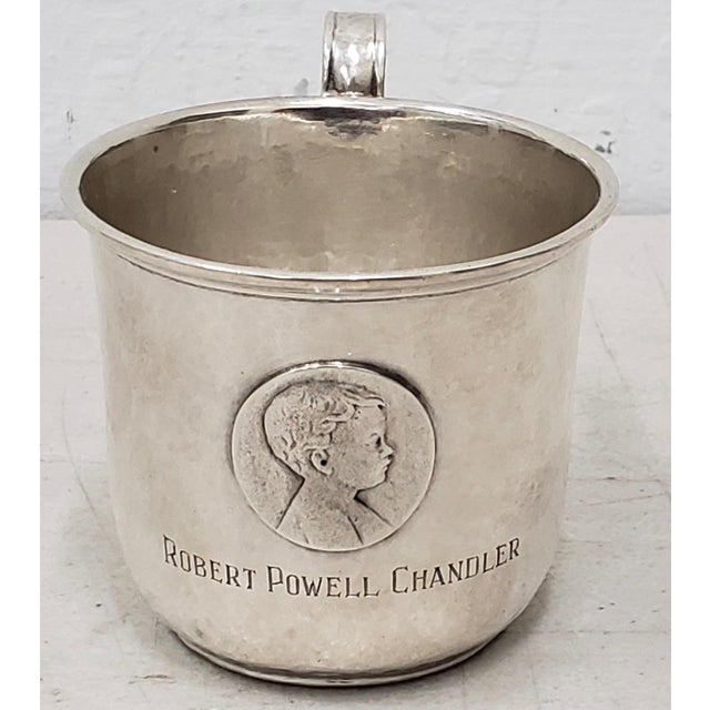Late 19th Century Hand Hammered Shreve & Co. Christening Cup c.1890s Beautifully hand hammered sterling silver...