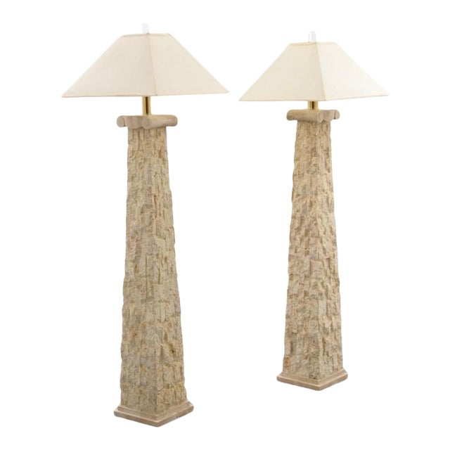 Manner of Karl Springer Floor Lamps - a Pair For Sale