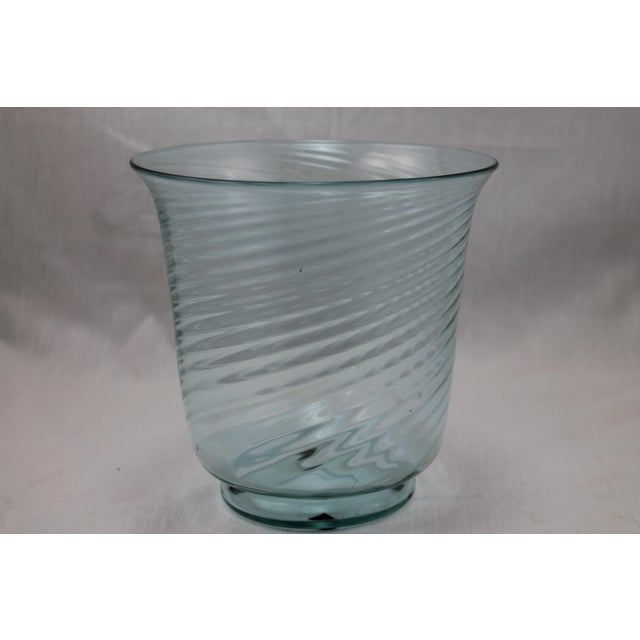 An Authentic Art Deco Era Steuben Baby Blue Translucent Swirl Bowl. Frederic Carder era. Excellent condition.