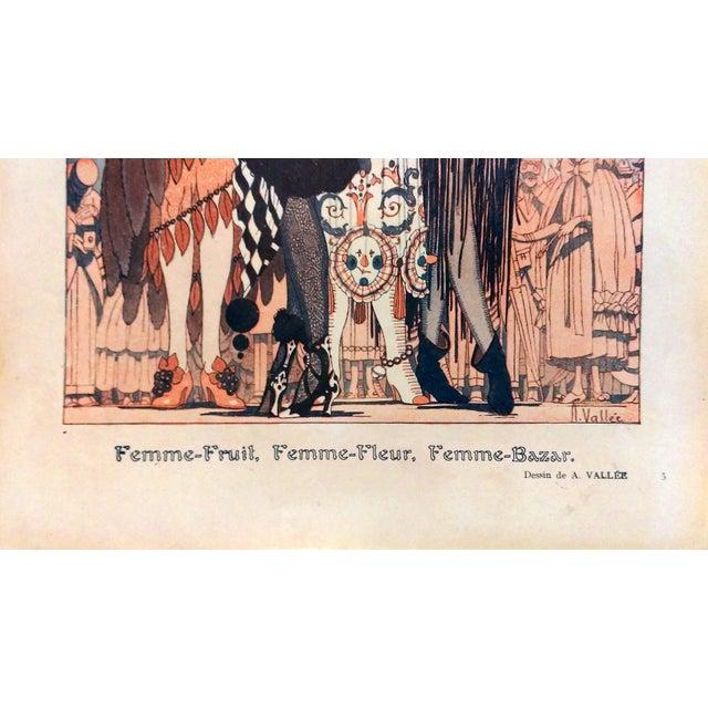 "Armand Valle 1919 Fantasio ""Les Foll' Modes"" Print - Image 3 of 5"