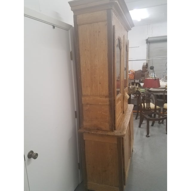 Primitive Antique Pine Cupboard - Made in France For Sale In Dallas - Image 6 of 13