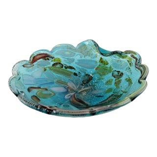 AVeM Murano Hand Blown Tutti Frutti Glass Bowl For Sale