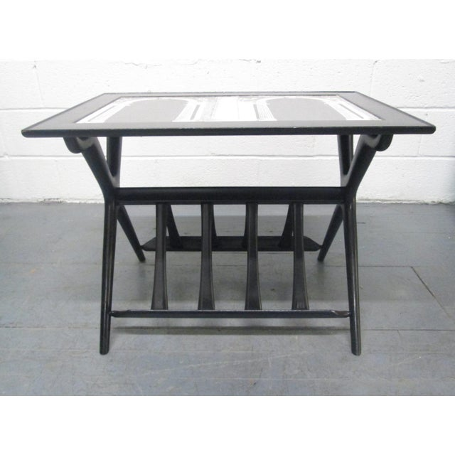 1950s Architettura Table by Piero Fornasetti For Sale - Image 5 of 7