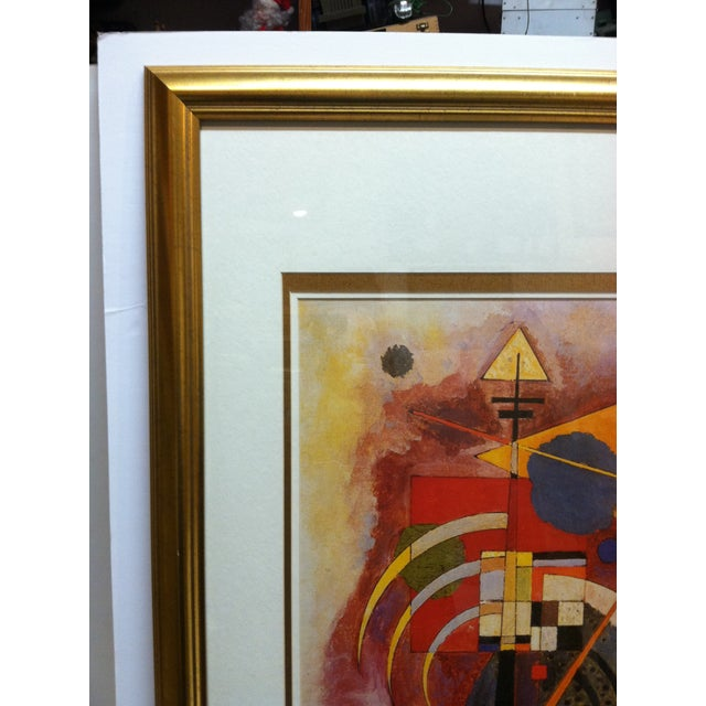 """Abstract Original """"Abstract Geometric Figures"""" Framed & Matted Print by Wassily Kandinsky For Sale - Image 3 of 8"""