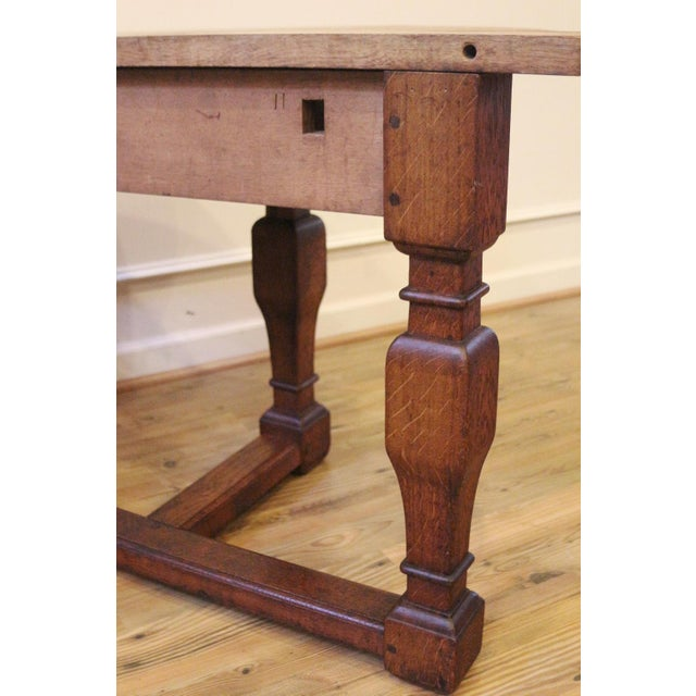 Oak 19th Century Country Oak Demi Lune Console Tables - a Pair For Sale - Image 7 of 11