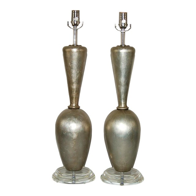 Plaster Table Lamps by Swank Champagne For Sale - Image 9 of 9
