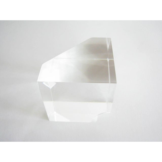 Vintage Steuben Crystal Floating Spheres Cube Prism Paperweight Signed For Sale In Chicago - Image 6 of 13