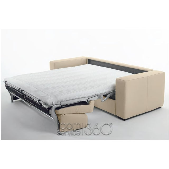 Capri Italian Leather Sleeper Sofa - Image 5 of 7