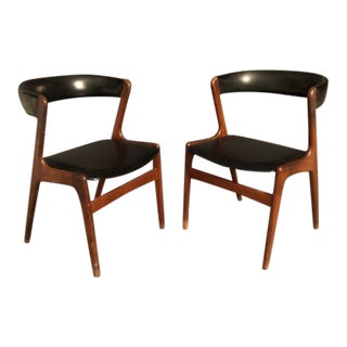 1970s Vintage Kai Kristiansen Fire Teak Chairs- a Pair For Sale