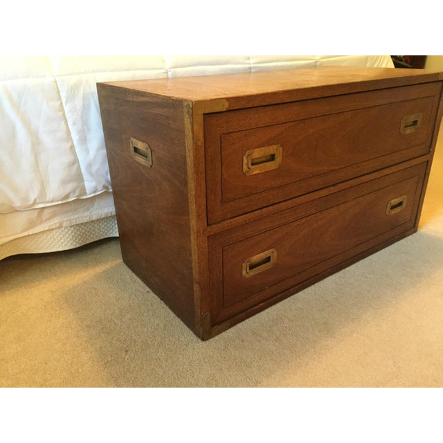 Campaign Drexel Wood Campaign Dresser For Sale - Image 3 of 7
