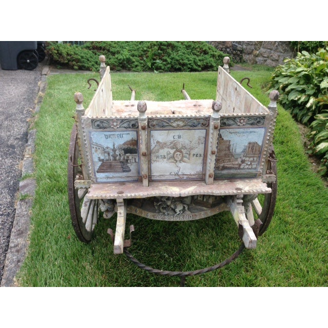 White 19th-Century Sicilian Goat Cart For Sale - Image 8 of 9