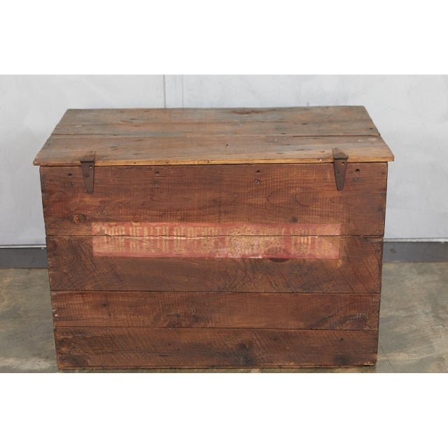 Wood Large Crate with Advertising For Sale - Image 7 of 8