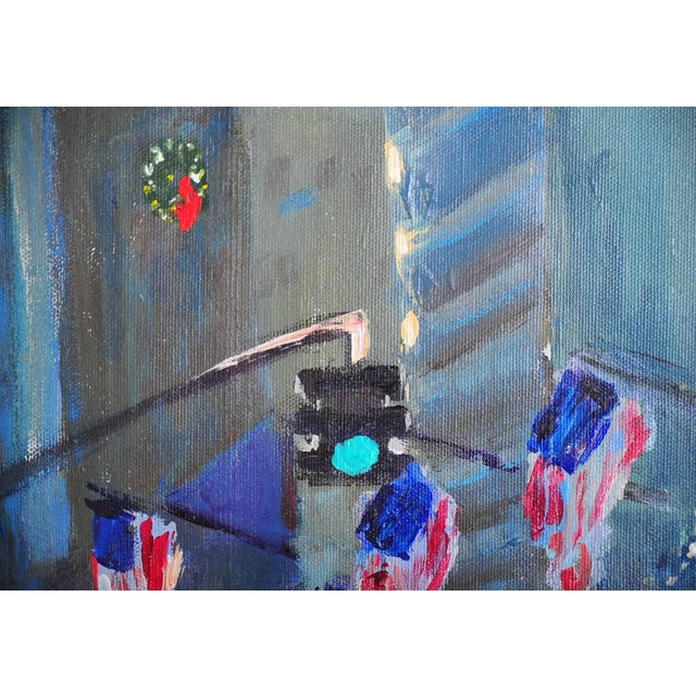 """Downtown Manhattan 4th July,"" Oil Painting - Image 6 of 10"