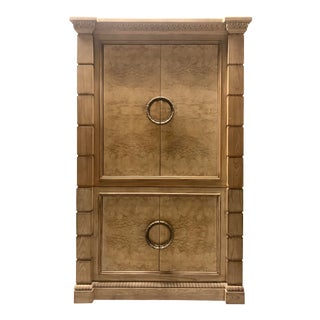 Burlwood Armoire by Drexel For Sale