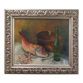 Red Fish Still Life Oil Painting