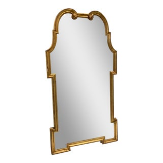 1950s Large Gilt Framed Neoclassical Mirror For Sale