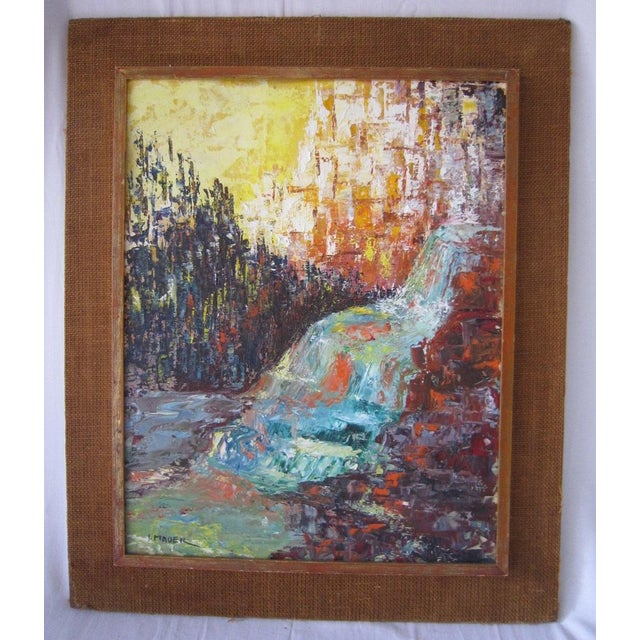 J. Mader Signed Mid Century Painting - Image 2 of 7