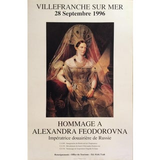 Original Poster Paying Hommage to Empress Alexandra Feodorovna of Russia