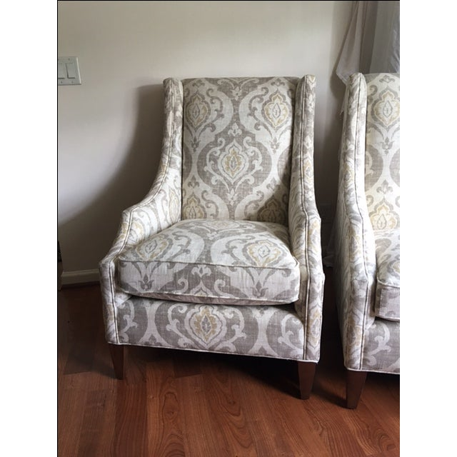 Arhaus Upholstered Plazza Wing Chairs - A Pair - Image 6 of 6