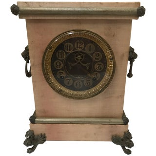 Late 19th Century Ansonia Mantel Clock With Satin Finish For Sale