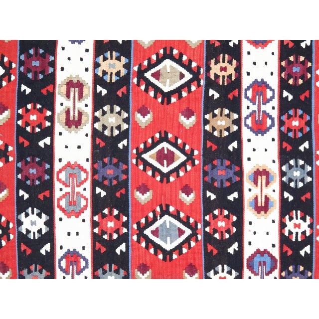 Semi-Antique Persian Shiraz Kilim Handmade Hand-woven. Lamb's Wool on a Wool Foundation. Very Fine Hand-Spun Wool Rug....