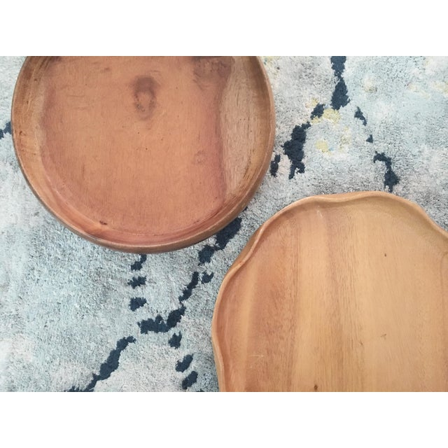 Handmade Wooden Tray - A Pair - Image 5 of 11
