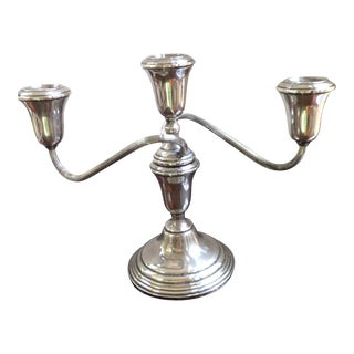 1940s Traditional Towle Sterling Silver Candelabra For Sale