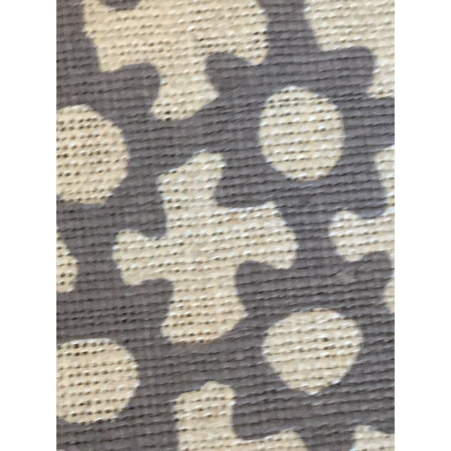 Boho Chic Galbraith & Paul Lavender on Star Logan Natural Linen Fabric - 4 3/8 Yards For Sale - Image 3 of 4