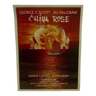 "Vintage Television Movie Poster ""China Rose"" George C. Scott & Ali Macgraw 1983 For Sale"