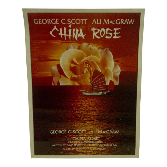 """Vintage Television Movie Poster """"China Rose"""" George C. Scott & Ali Macgraw 1983 For Sale"""