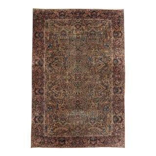 Antique Persian Kerman Lavar Rug For Sale