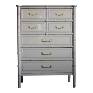1960s Chinoiserie Henry Link Bali Hai Highboy For Sale