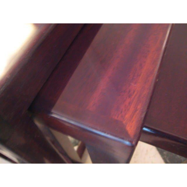 Modern A Set of Edward Wormley for Dunbar Nesting Tables For Sale - Image 3 of 5