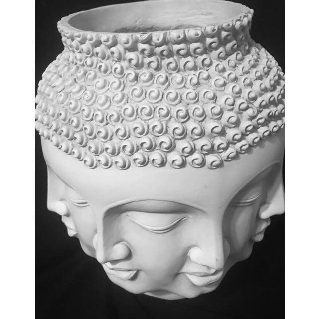 Fornasetti Dora Maar Style Multi Face Asian Buddha Planter / Vase For Sale - Image 10 of 12