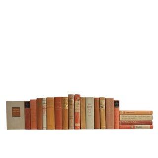 Vintage Tan & Orange Classics Book Set For Sale