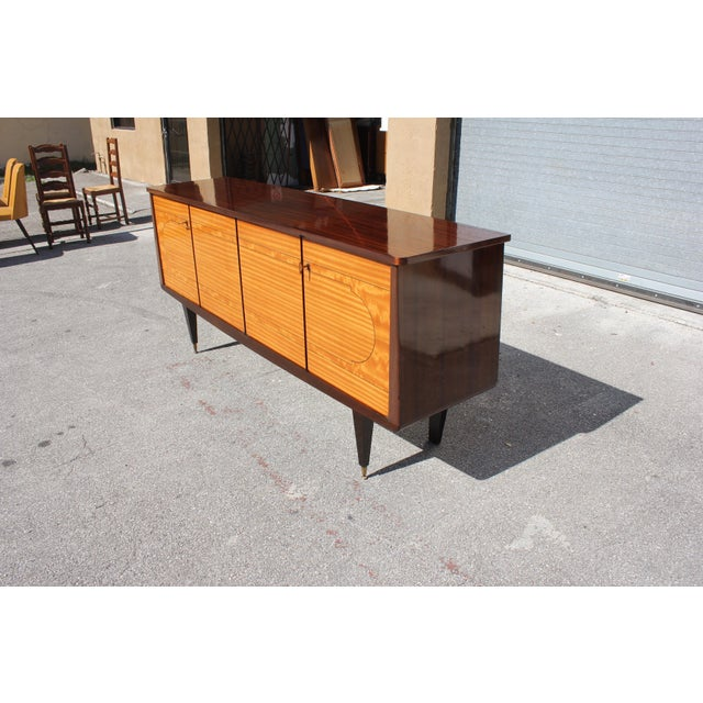 Metal 1940s French Art Deco Mahogany Sideboard For Sale - Image 7 of 13