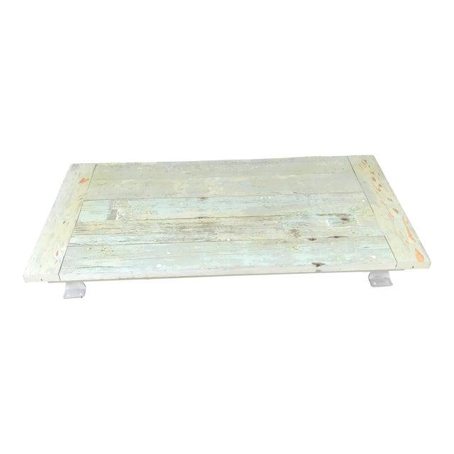 Reclaimed 1800s Plantation House Floorboards Wood Server For Sale