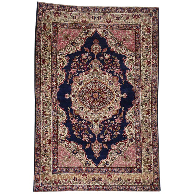 Antique Persian Kermanshah Accent Rug with Traditional Style For Sale