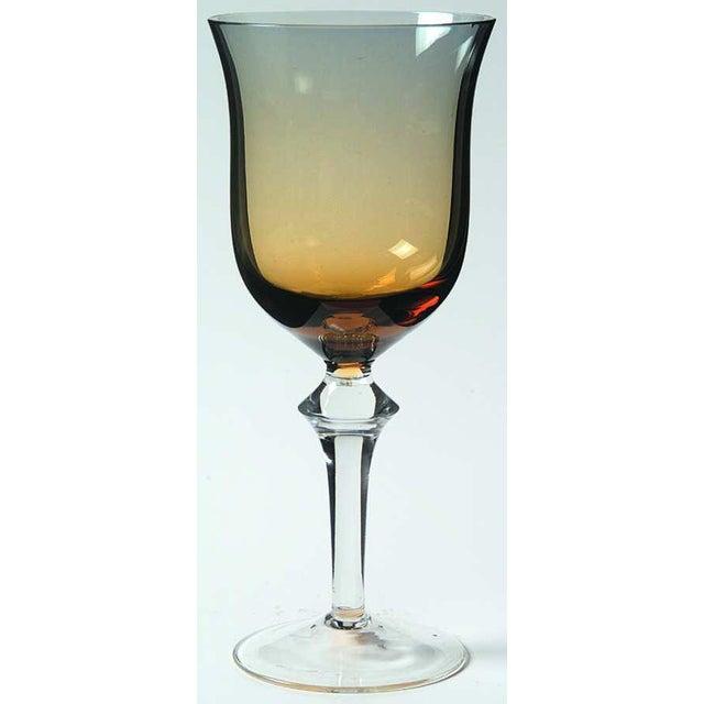 Denby-Milnor Sweden Denby Aurora Blue & Amber Stemware Wine Glass For Sale - Image 4 of 4
