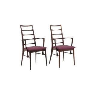 "Pair of Rosewood ""Lis"" Dining Armchairs by Niels Koefoed for Koefoed Hornslet For Sale"