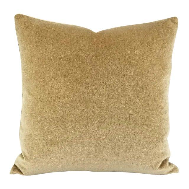 Holly Hunt Aqua Velvet Sand Pillow Cover For Sale