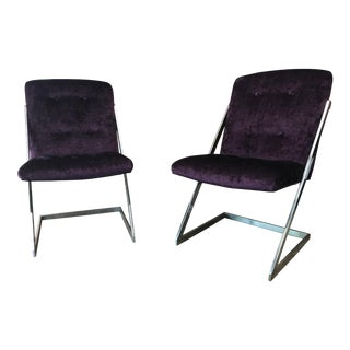 1970s Vintage Flair Furniture Co Cantilever Z Chairs - A Pair For Sale