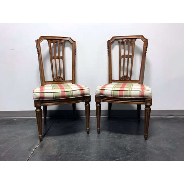 HENREDON Capri Mid Century Italian Provincial Neoclassical Dining Side Chairs - a Pair For Sale - Image 11 of 11