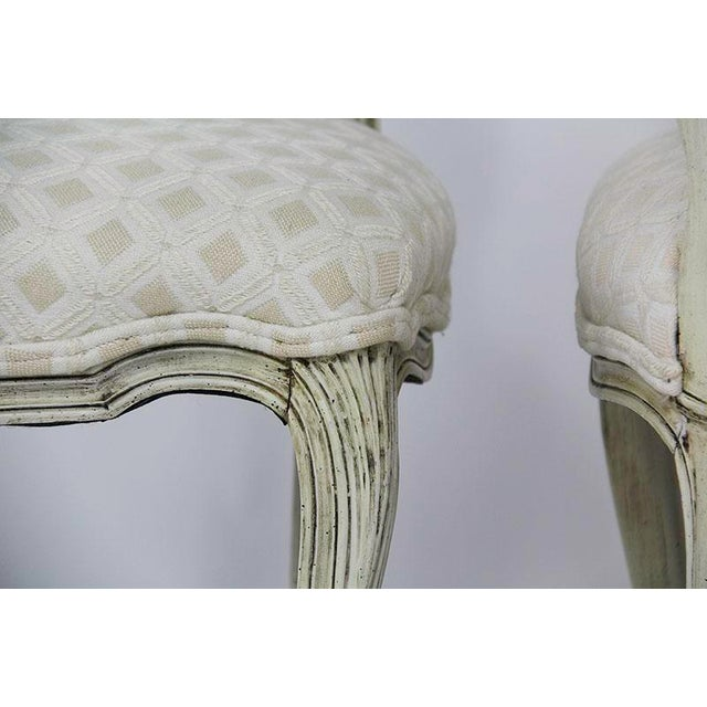 Wood Late 20th Century Vintage Upholstered Dining Chairs- Set of 6 For Sale - Image 7 of 13