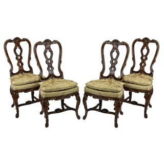 Four George II Dining Chairs For Sale