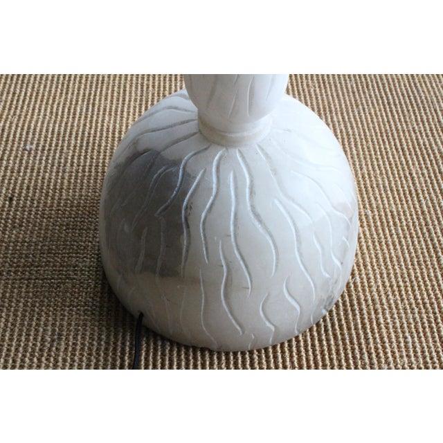 Alabaster Carved Alabaster Floor Lamp, Italy, 1970s For Sale - Image 7 of 9