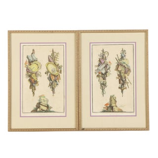 Framed 18th Century Pierre Francois Tardieu French Intaglio Engravings - a Pair For Sale