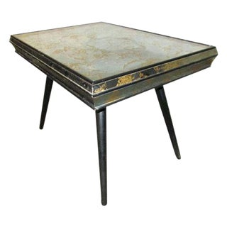 Paul McCobb Style Mid-Century Side End Accent Mirrored Side Table For Sale